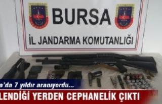 Bursa'da 7 yıldır aranan şahsın gizlendiği...