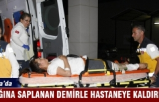 Bursa'da ayağına saplanan demirle hastaneye...