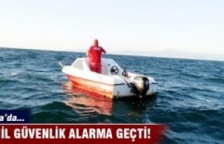 Bursa'da başı boş tekne sahil güvenliği...
