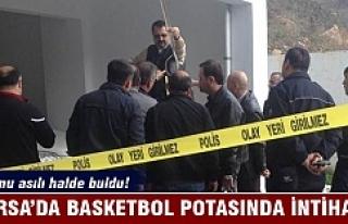 Bursa'da basketbol potasında intihar