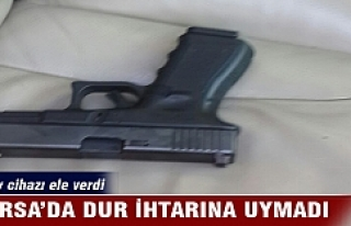 Bursa'da dur ihtarına uymadı araçtan bakın...
