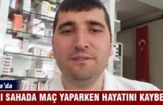 Bursa'da ecza teknisyeni halı sahada geçirdiği...