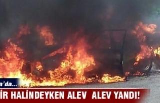 Bursa'da evler alev alev yandı!
