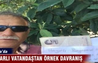 Bursa'da hamile eşi için aldığı meyvelerin...