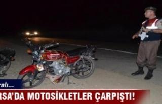 Bursa'da iki motosiklet çarpıştı: 3 yaralı