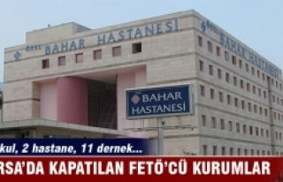 Bursa'da kapatılan FETÖ'cü kurumlar