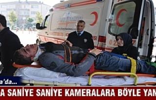 Bursa'da kaza saniye saniye kameralara böyle...