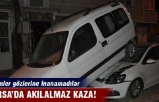 Bursa'da kazayı görenler gözlerine inanamadı