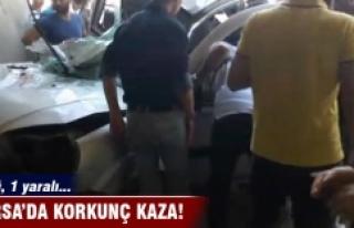 Bursa'da korkunç kaza! 1 ölü 1 yaralı