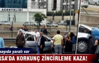 Bursa'da korkunç zincirleme kaza!