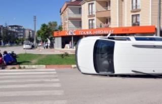 Bursa'da korkutan kazalar kameralarda