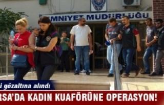 Bursa'da kuaför dükkanına uyuşturucu operasyonu