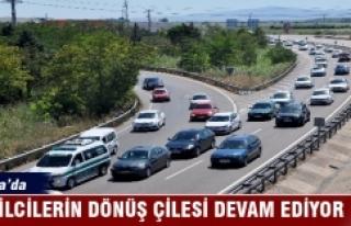 Bursa'da tatilcilerin dönüş çilesi