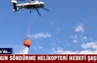 Bursa'da yangın söndürme helikopteri altında...