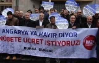 Bursa'da öğretmenlerden eylem