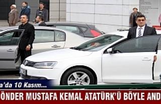 Bursalılar Ulu Önder Mustafa Kemal Atatürk'ü...