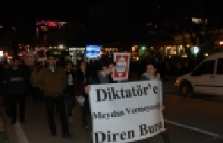 Cumhurbaşkanı Erdoğan'a Bursa'da protesto!