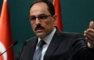 Cumhurbaşkanlığı Sözcüsü Kalın'dan Sarkisyan'a...