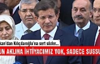 Davutoğlu'ndan Kılıçdaroğlu'na sert eleştiri