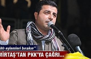 Demirtaş'tan PKK'ya çağrı!