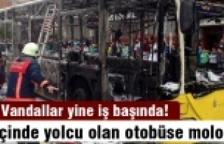 Gaziosmanpaşa'da itfaiye aracı ve otobüsü yaktılar