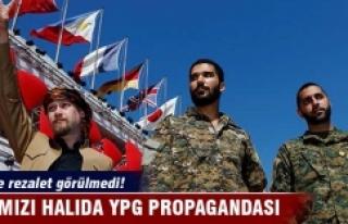 Göz yumdular! Kırmızı halıda YPG propagandası...