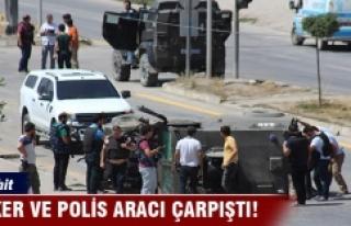 Hakkari'de asker ve polis aracı çarpıştı:...