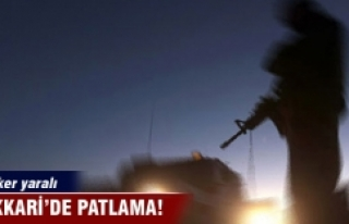 Hakkari'de patlama: 3 asker yaralı