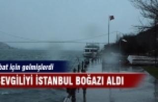 İki sevgiliyi İstanbul Boğazı aldı