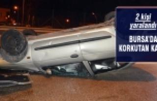 Karaman'da kayan otomobil takla attı!