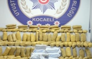 Kocaeli'de 141 kilo eroin ele geçirildi!