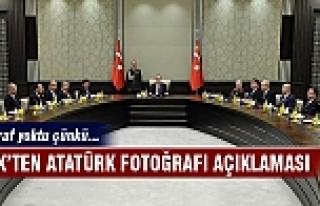 Köşk'ten flaş Atatürk fotoğrafı açıklaması