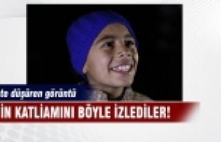 Küçük çocuk IŞİD vahşetini böyle izledi!