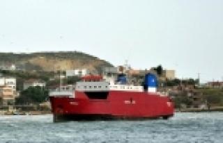 LODOS, RO-RO GEMİSİNİ KARAYA OTURTTU