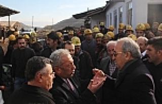 Maden sahibi CHP'li heyet ile tartıştı