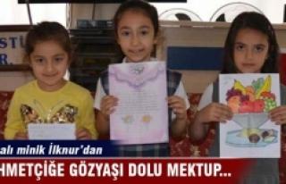 Mehmetçiğe gözyaşı dolu mektup