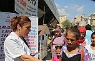 Milas'ta Halk Sağlığı İçin Broşür Dağıttılar