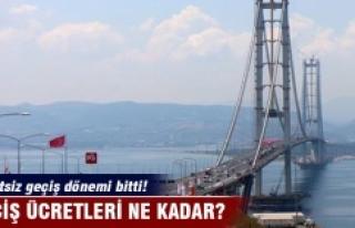 Osmangazi Köprüsü'nden ücretli geçişler...