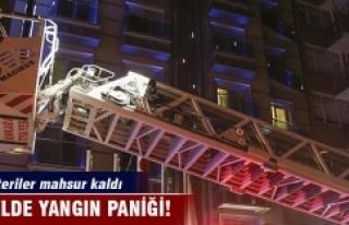Otelde yangın paniği: Müşteriler mahsur kaldı