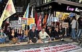 Samsun'da Işid Protestosu