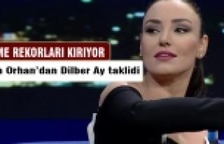Sevcan Orhan'dan Dilber Ay taklidi