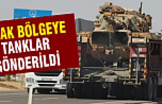Sınıra tanklar gönderildi
