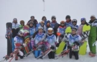 Snowboardçuları şampiyonluk heyecanı sardı