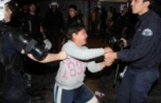 Soma eylemcisi çocuk hırsızlık yaparken yakalandı