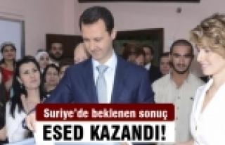 Suriye'de seçimi Esed kazandı!