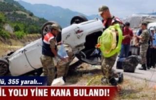 Tatil yolu yine kana bulandı! 44 ölü 355 yaralı