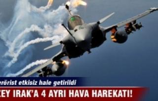 TSK Kuzey Irak'a 4 hava harekatı düzenledi! 13...