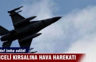 Tunceli kırsalına hava harekatı: 6 hedef imha edildi