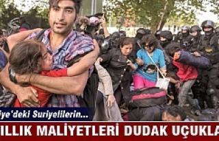 Türkiye'deki Suriyelilerin 4 yıllık maliyeti...