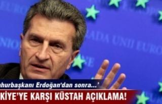 Türkiye'ye Oettinger'den küstah açıklama
